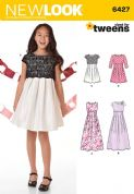 6427 New Look Pattern: Girls' Dress in Two Lengths